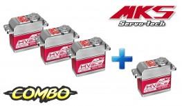 MKS 3x HBL950 HV DIGITAL BLS 2S + 1x HBL980 TAIL SERVO (COMBO)