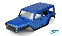 "PROLINE PRE-PAINTED / PRE-CUT JEEP WRANGLER UNLIMITED RUBICON BODY FOR 12.8"" WHEELBASE TRX-4 (BLUE)"