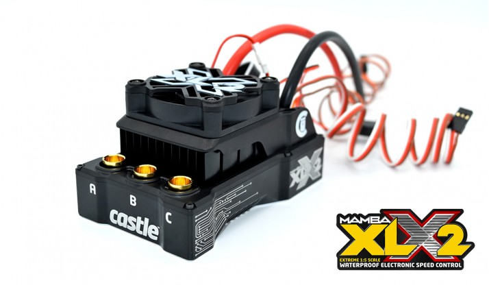CASTLE MAMBA XLX2 8S 33.6V ESC 20A PEAK BEC