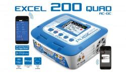 PULSETEC - EXCEL 200 QUAD CHARGER AC 100-240V - DC 11-18V - 200W POWER - 0.1-10.0A - 1-6 LI-XX - 1-15 NI-XX - 2-20V PB