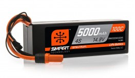 SPEKTRUM 14.8V 5000MAH 4S 100C SMART LIPO, HARDCASE, IC5