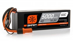 SPEKTRUM 14.8V 5000MAH 4S 50C SMART LIPO, HARDCASE, IC5