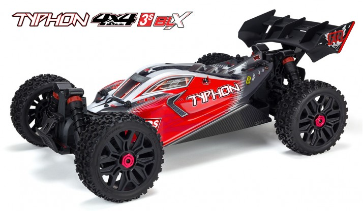 ARRMA TYPHON 4X4 3S BLX SPEED BUGGY (RED)