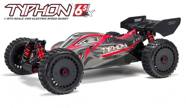 ARRMA TYPHON 6S BLX 1:8 4WD SPEED BUGGY RTR (RED/GREY)