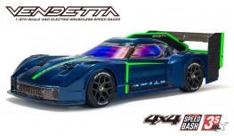 ARRMA VENDETTA 4X4 3S BLX 1:8 4WD SPEED BASH RACER RTR (BLUE)