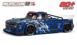ARRMA INFRACTION STREET BASH 6S BLX V2 1/7 ALL-ROAD RESTO-MOD TRUCK W/HAND BRAKE RTR (BLUE)