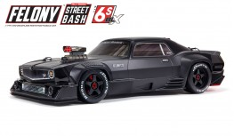 ARRMA FELONY 6S BLX 1/7 STREET BASH ALL-ROAD RESTO-MOD MUSCLE CAR RTR (BLACK)