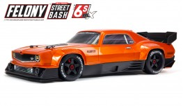 ARRMA FELONY 6S BLX 1/7 STREET BASH ALL-ROAD RESTO-MOD MUSCLE CAR RTR (ORANGE)