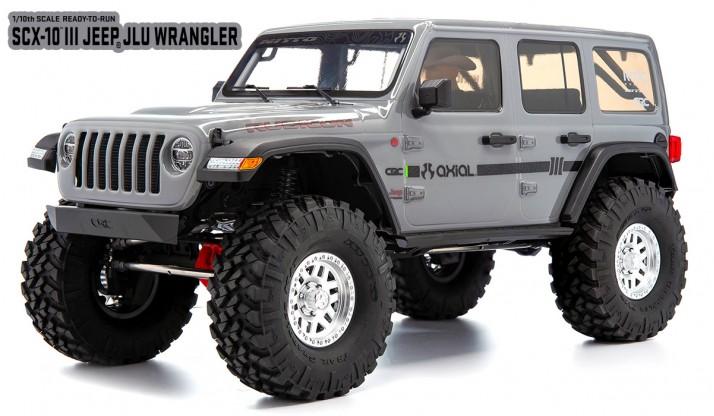 AXIAL SCX10 III 1:10 4WD JEEP WRANGLER RUBICON JLU RTR (GRAY)