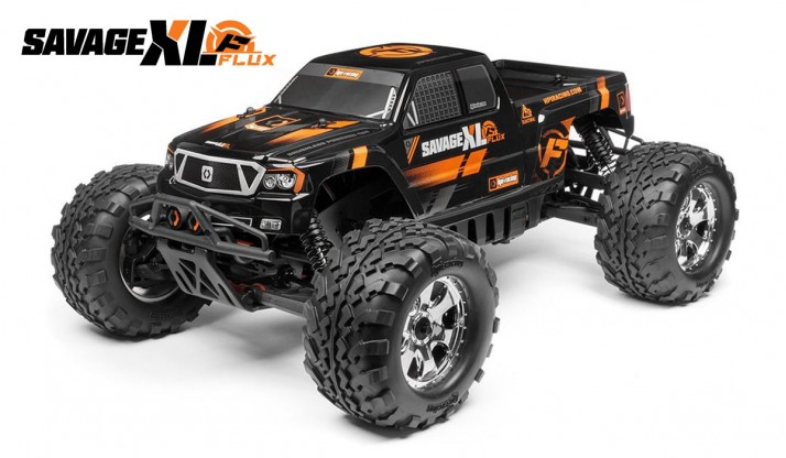 HPI SAVAGE XL FLUX 1:8 4WD MONSTER TRUCK GT-2 TRUCK BODY RTR