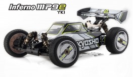 KYOSHO INFERNO MP9E TKI READYSET COLOR TYPE I WHITE/BLACK KT331P