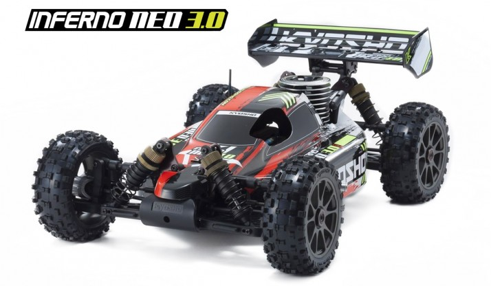 KYOSHO INFERNO NEO 3.0 1:8 4WD NITRO RACING BUGGY RTS (RED)