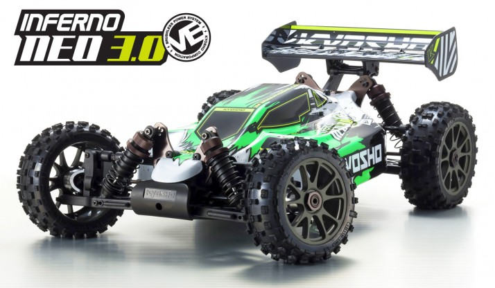 KYOSHO INFERNO NEO 3.0 VE 1:8 4WD BRUSHLESS RACING BUGGY W/KT-231P READYSET (GREEN)