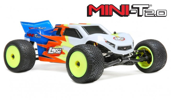 LOSI MINI-T 2.0 1:18 2WD STADIUM TRUCK RTR (BLUE/WHITE)