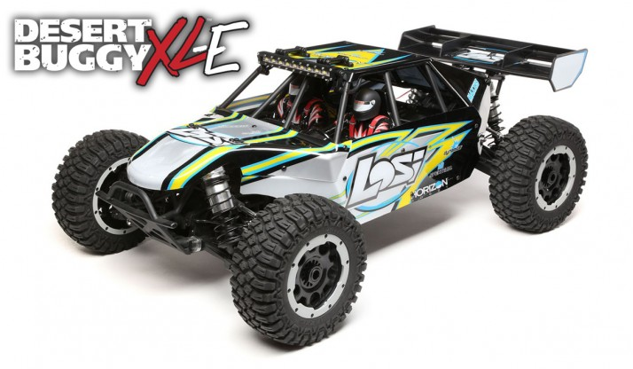 LOSI DESERT BUGGY XL-E 1:5 4WD ELECTRIC RTR WITH AVC (BLACK)