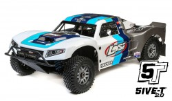 LOSI 5IVE-T 2.0 1:5 4WD SHORT COURSE TRUCK GAS BND (GREY/BLUE/WHITE)