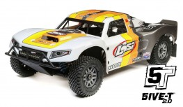 LOSI 5IVE-T V2 2.0 1:5 4WD SHORT COURSE TRUCK GAS BND (GREY/ORANGE/WHITE)