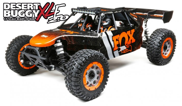 LOSI DBXL-E 2.0 1:5 4WD DESERT BUGGY SMART RTR (FOX BODY)