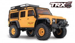 TRAXXAS TRX4 LAND ROVER DEFENDER TROPHY YELLOW SAND LIMITED ED.