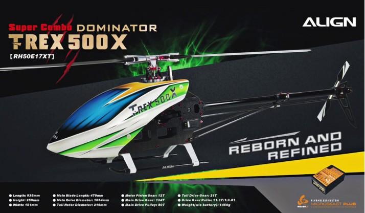 ALIGN T-REX 500X DOMINATOR SUPER COMBO DS530M/DS535M (BEAST X)