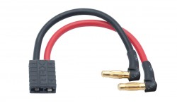 LRP LIPO HARDCASE ADAPTER WIRE - 4MM MALE PLUG TO TRAXXAS TRX PLUG 90 ANGLE