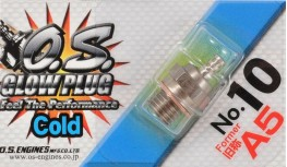 "O.S. NO.10 SHORT BODY STANDARD GLOW PLUG ""COLD"""
