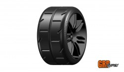 GRP 1:5 TC - W02 REVO NEW - P3 SOFT - MOUNTED ON BLACK WHEEL - 1 PAIR