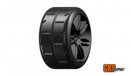 GRP 1:5 TC - W02 REVO NEW - S7 MEDIUM - MOUNTED ON BLACK WHEEL - 1 PAIR