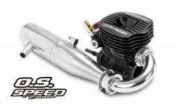 O.S. SPEED B2102 .21 3,5CC LOW-PROFILE ENGINE + T-2090SC PIPE (COMBO KIT)