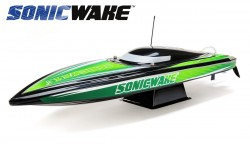 "PROBOAT SONICWAKE 36"" SELF-RIGHTING BRUSHLESS DEEP-V RTR (BLACK)"
