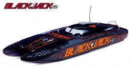 "PROBOAT BLACKJACK 42"" 8S BRUSHLESS CATAMARAN RTR BLACK/ORANGE (PRB08043)"